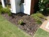 mulching garden bed